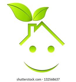 Eco friendly house - vector illustration