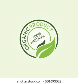 eco friendly natural label organic product sticker logotype logo