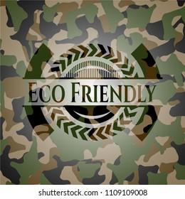 Eco Friendly on camo pattern