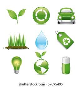 eco friendly premium icons