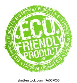 Eco friendly product rubber stamp.