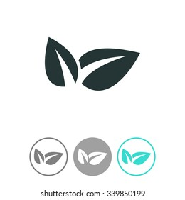 Eco friendly vector icon. Ecological symbol.