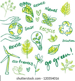 Eco friendly vector set