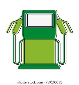 Eco fuel dispenser icon vector illustration graphic design