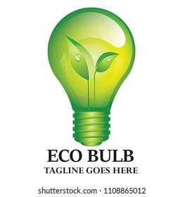 Eco Green Bulb Environment Ecology Energy Logo Concept