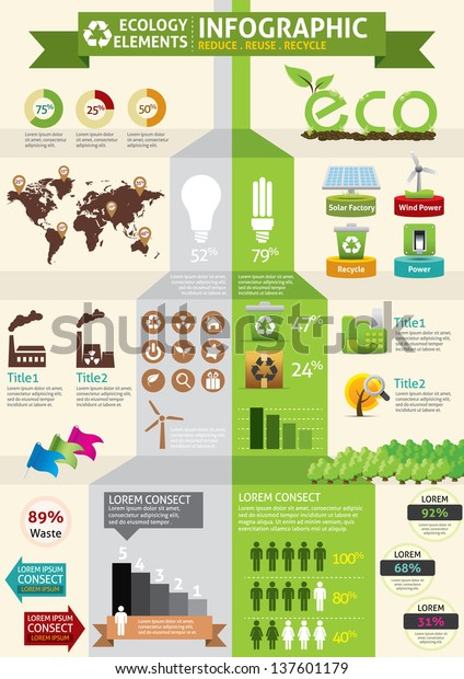 Eco Green Concept Infographic Stock Vector Royalty Free