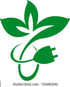 Eco green electric logo