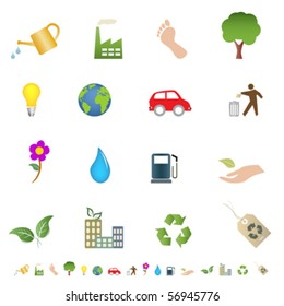Eco and green environment symbols