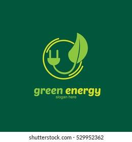 Eco Green Logo Design Template. Vector Illustration