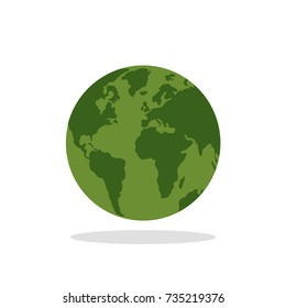 Eco green planet. earth for logo