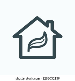 Eco home icon, concept of eco home vector icon