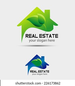 Eco home sign Branding corporate sign isolated�