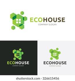 Eco House, Green Real estate logo