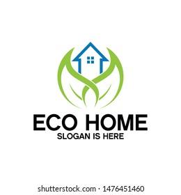 Eco House Logo Vector Design