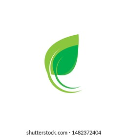 Eco icon green leaf vector illustration isolated. - Vector
