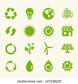 Eco Icon Set.