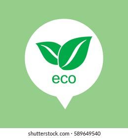 Eco icon in speech bubble