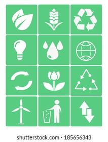 eco icons in green