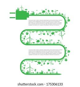 Eco infographic elements. Vector set