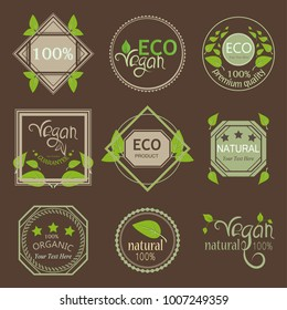 eco label sticker pack for vegan products