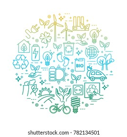 Eco lifestyle, zero waste concept, recycle and reuse. Vector template for your design