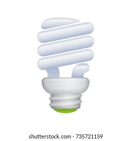 Eco Light Bulb -  of the Realistic Icons Collection . A professional, realistic, pixel aligned icon.