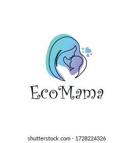 Eco Mama Logo Vector and Minimalist