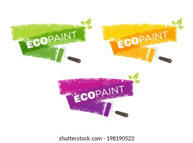 Eco Paint Grunge Brush Creative Vector Concept