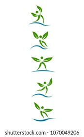 Eco Plants People Vector Graphi. Set of Design elements