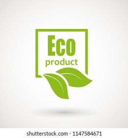 Eco product Icon. Healthy organic food label Bio product icon