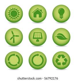 eco recycle icons