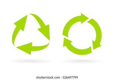 Eco recycled cycle icon vector illustration isolated on white background