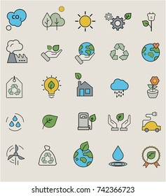 Eco Related Vector Line Icons