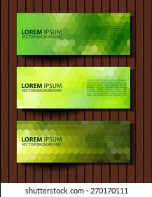 eco set of headers with four different style. set of green environmental vector banners