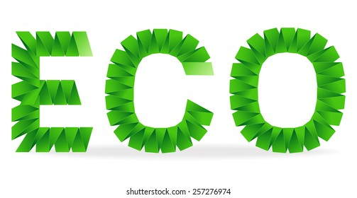 Eco sign folded paper