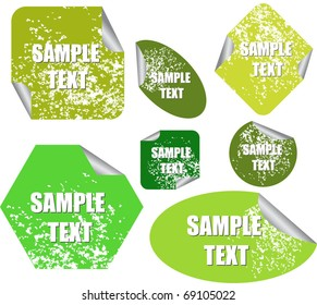 eco stickers or tags