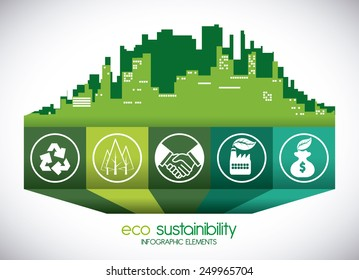 eco sustainibility design, vector illustration eps10 graphic