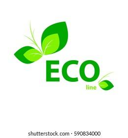 Eco symbol icon. Ecology sign