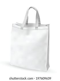 Eco textile bag. Vector EPS-10