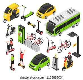 Eco Transport Isometric Set