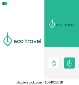 Eco Travel Logo Template Design Concepts