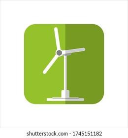 Eco turbine icon concept on green background
