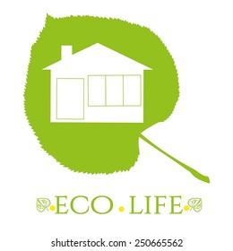 Eco vector illustration in shades of green