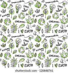 Eco vector seamless pattern
