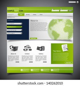 Eco Website with Halftone earth globe