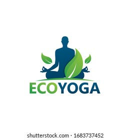 Eco Yoga Logo Template Design