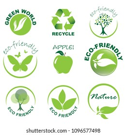 Eco-friendly icon set