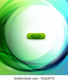 Eco-friendly sphere abstract background