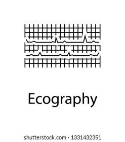 Ecography, glyph vector icon.