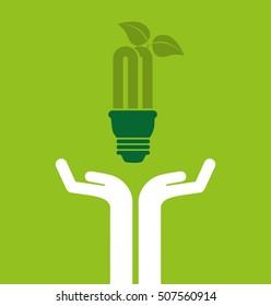 ecological alternative energy green vector illustration design